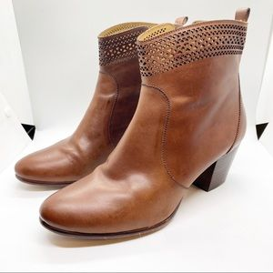 Aerin Tilstone Leather Ankle Booties Boots Sz 9.5